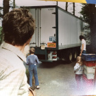 1984: The 40 ft lorry arriving full of stuff from Mourne Grange, with the Linde family