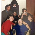 1st row, L to R: Philipp and Cherry How, Ian Tearle. Blue cardigan: Eileen Barr, middle: Stephen Cooke, red cardigan: Caroline Latimer